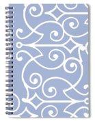 Kasbah Blue Arabesque Spiral Notebook