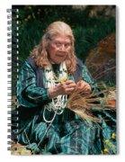 Kashia Pomo Woman Weaving Basket Spiral Notebook