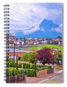 Kastelruth And Schlern Peak In Alps Landscape View Spiral Notebook