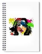 Kate Beckinsale Pop Art Spiral Notebook