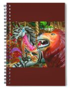 Kate The Zebra And  Lion Carousel  Spiral Notebook