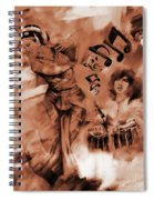 Kathak Dance On Tabla  Spiral Notebook