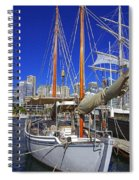 Kathleen Gillett The Artist Cruising Ketch Spiral Notebook