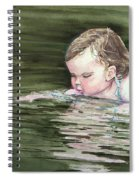 Katie Wants A River Rock Spiral Notebook