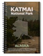 Katmai National Park In Alaska Travel Poster Series Of National Parks Number 34 Spiral Notebook