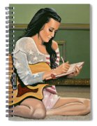 Katy Perry Painting Spiral Notebook