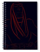 Katy Perry Silhouette Spiral Notebook