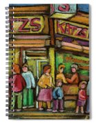 Katzs Delicatessan New York Spiral Notebook