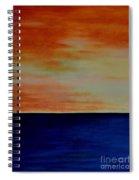 Kauai Sunset Under Vog Spiral Notebook