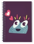 Kawaii Cute Cartoon Candy Character Spiral Notebook