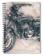 Kawasaki Triple - Kawasaki Motorcycles - 1968 - Motorcycle Poster - Automotive Art Spiral Notebook