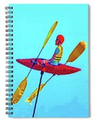 Kayak Guy On A Stick Spiral Notebook