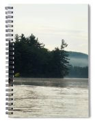 Kayak In The Fog Spiral Notebook