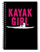 Kayak Kayak Girl Pink Gift Light Spiral Notebook