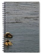 Kayakers And Seal Lions Spiral Notebook