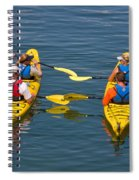 Kayakers In Bar Harbor Maine Spiral Notebook