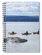 Kayakers Paddle To Fishing Cone On Yellowstone Lake Spiral Notebook