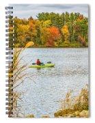 Kayaking In Fall Spiral Notebook