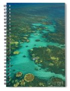 Kayaking Through Beautiful Coral Spiral Notebook