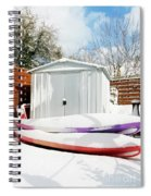 Kayaks In The Snow Spiral Notebook
