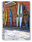 Kayaks On A Wall  Spiral Notebook