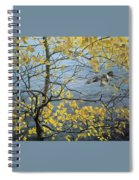 Kb Bateman Aspen And Kingfisher Robert Bateman Spiral Notebook