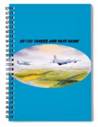 Kc-130 Tanker Aircraft And Pave Hawk With Banner Spiral Notebook