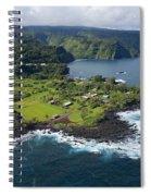 Keanae Peninsula Aerial Spiral Notebook