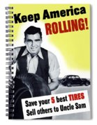 Keep America Rolling Spiral Notebook