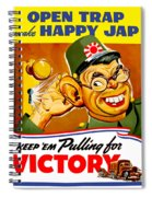 Keep Em Pulling For Victory - Ww2 Spiral Notebook