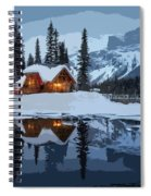 Keep The Home Fires Burning For The Weary Winter Traveler Spiral Notebook