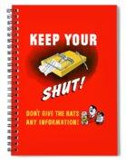 Keep Your Trap Shut -- Ww2 Propaganda Spiral Notebook