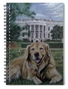 Kelli On The White House Lawn Spiral Notebook
