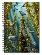 Kelp Forest With Seals Spiral Notebook