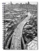 Kennedy Expressway And Chicago Skyline Spiral Notebook