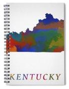 Kentucky Map Spiral Notebook