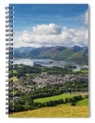 Keswick And Derwent Water View From Latrigg Spiral Notebook