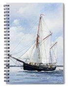 Ketch Rig Solvig Spiral Notebook