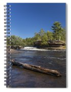 Kettle River Big Spring Falls 7 Spiral Notebook