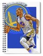 Kevin Durant Golden State Warriors Oil Art Spiral Notebook