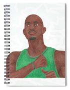 Kevin Garnett Spiral Notebook