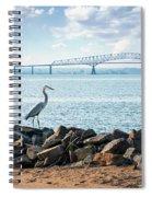 Key Bridge From Ft Smallwood Pk Spiral Notebook
