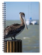 Key Largo Florida Pelican Yacht Spiral Notebook