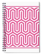 Key Maze With Border In French Pink Spiral Notebook
