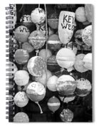 Key West Lobster Buoys Black And White Spiral Notebook