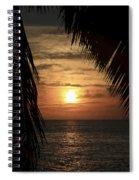 Key West Palm Sunset 2 Spiral Notebook