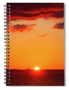 Key West Red Cloud Sunset Spiral Notebook