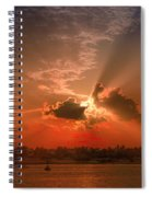 Key West Sunset Panoramic Spiral Notebook