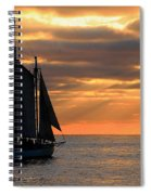 Key West Sunset Sail 6 Spiral Notebook