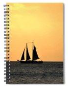 Key West Sunset Sail Spiral Notebook